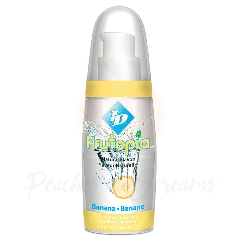ID Frutopia Sugar-Free Water-Based Banana Lube 100ml - Peaches and Screams
