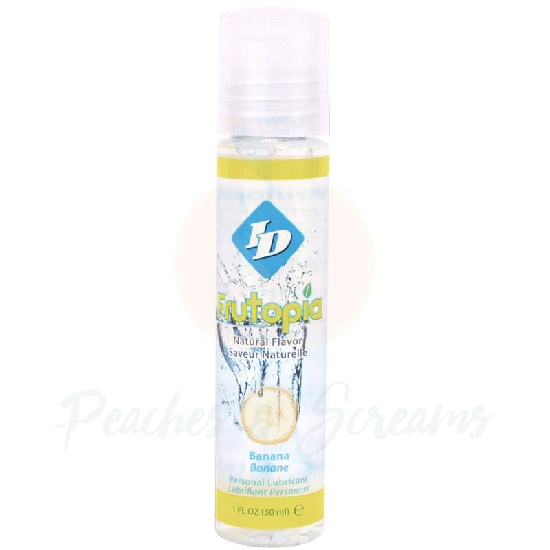 ID Frutopia Sugar-Free Water-Based Banana Sex Lube 30ml - Peaches and Screams
