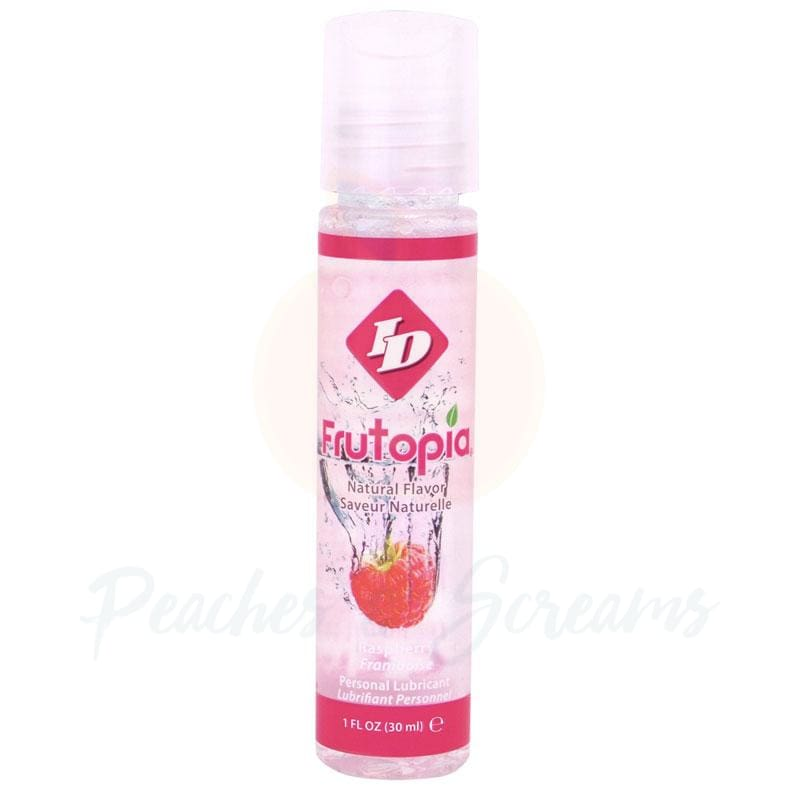 ID Frutopia Sugar-Free Water-Based Raspberry Sex Lube 30ml - Peaches and Screams