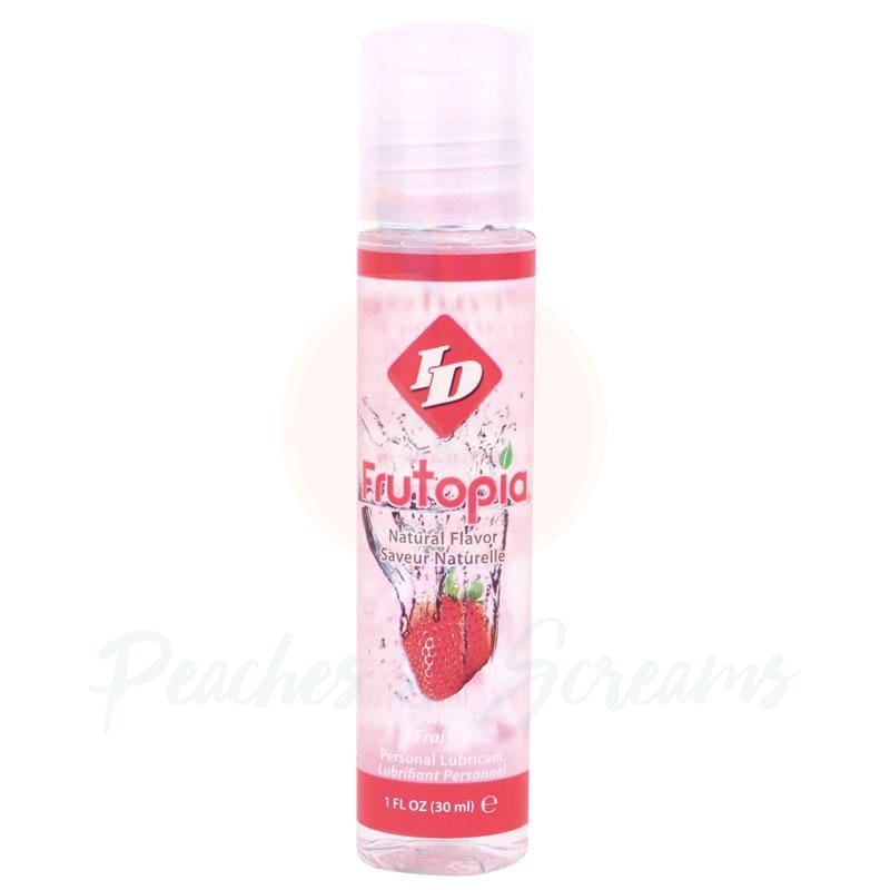 ID Frutopia Sugar-Free Water-Based Strawberry Sex Lube 30ml - Peaches and Screams