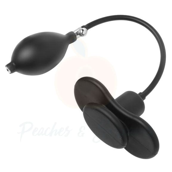 Inflatable Black Silicone Butterfly Mouth Gag - Peaches and Screams