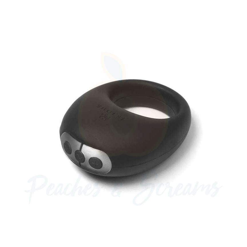 Je Joue Mio Rechargeable Black Silicone Vibrating Cock Ring - 🍑 Peaches and Screams