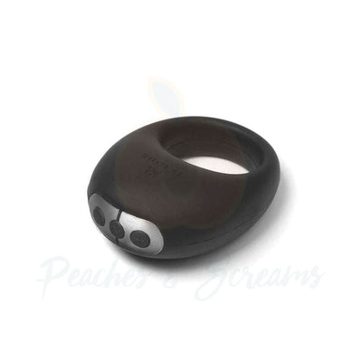 Je Joue Mio Rechargeable Black Silicone Vibrating Cock Ring - Peaches and Screams
