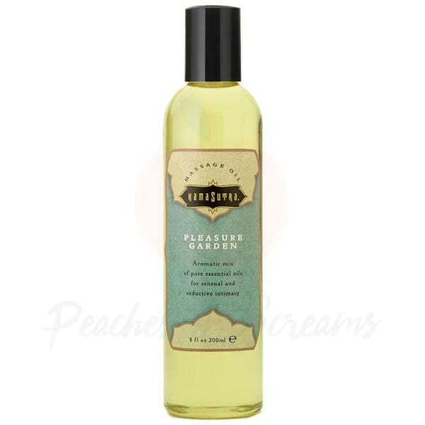 Kama Sutra Erotic Massage Oil Pleasure Garden 200ml - Peaches and Screams