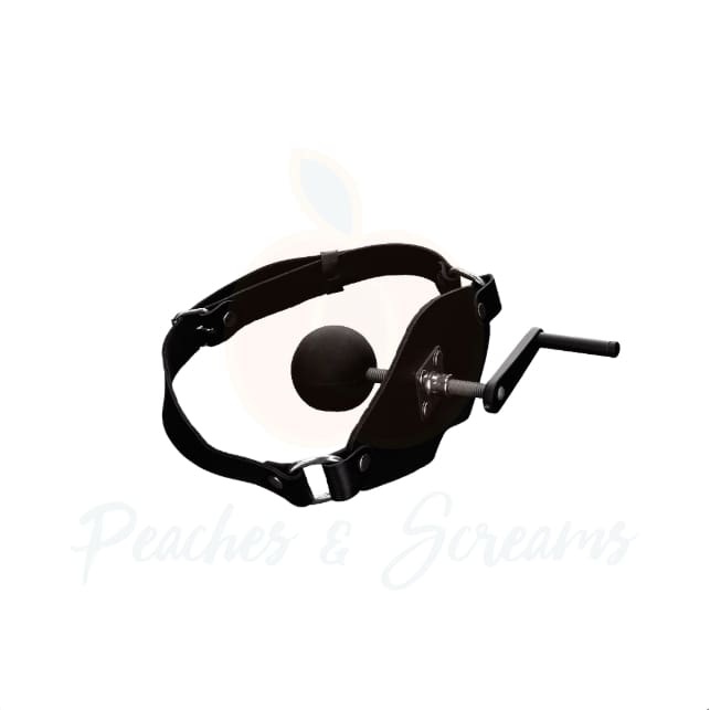 Killer Bondage Leather Mouth Gag with Adjustable Strap - Peaches and Screams
