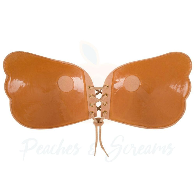 Lace Adhesive Stick On Push Up Strapless Invisible Bra Backless - Peaches and Screams
