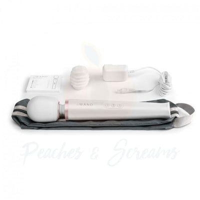 Le Wand Rechargeable 10-Speed Vibrating Wand Massaging Vibrator - Peaches and Screams