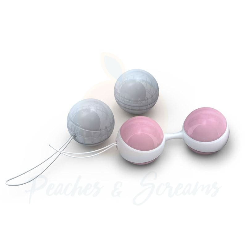 Lelo Luna Mini Pink and Blue Orgasm Ball Beads for Her - Peaches & Screams