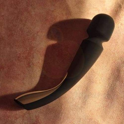 Lelo Smart Black Silicone Extra Powerful Waterproof Magic Wand Massager Vibrator - 🍑 Peaches and Screams