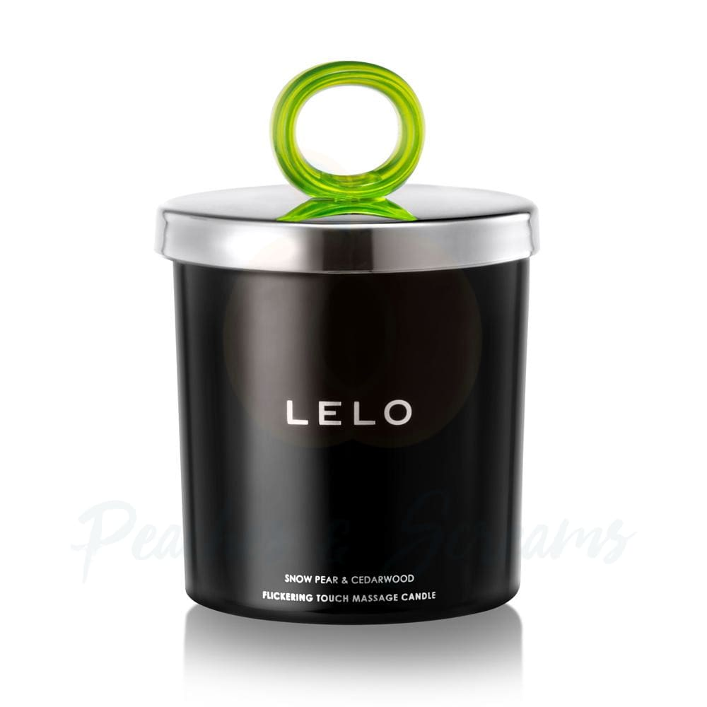 Lelo Snow Pear and Cedarwood Erotic Massage Candle - Peaches & Screams