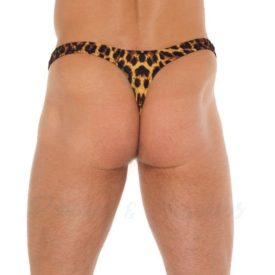 Leopard Print G-String Thong for Men - Necronomicox