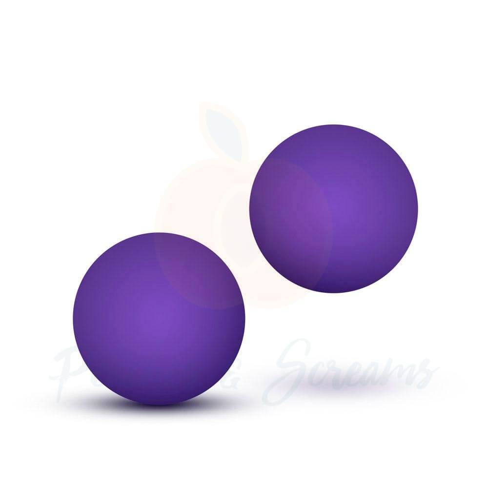 Luxe Purple Double O Weighted Kegel Balls for Beginners - Necronomicox