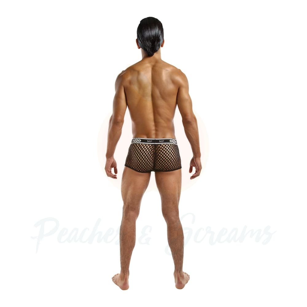 Male Power Peep Show Mini Short Black - X Large - 🍑 Necronomicox