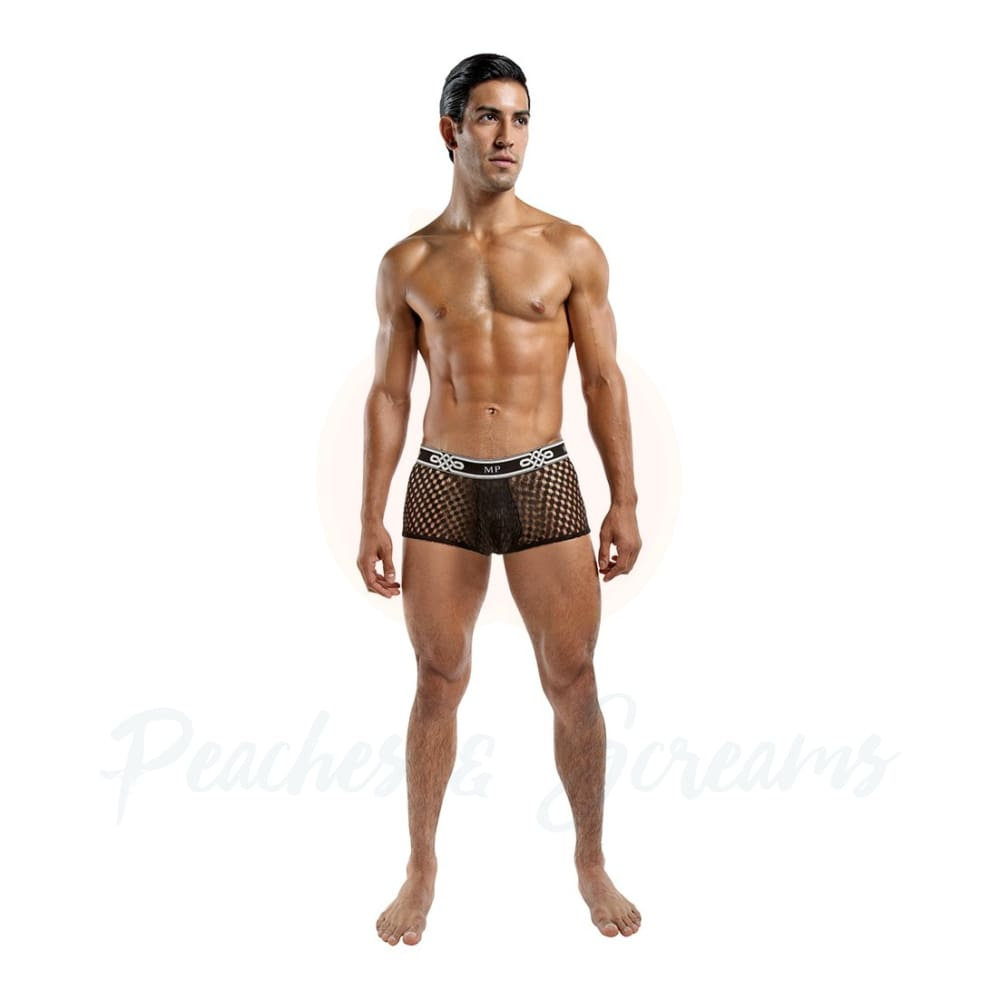 Male Power Peep Show Mini Short Black - X Large - 🍑 Peaches and Screams
