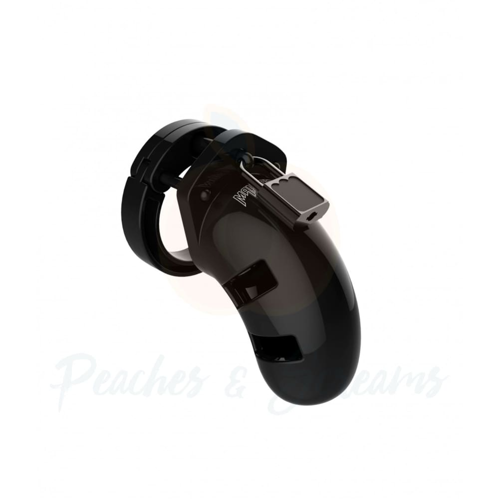 Man Cage 01 Male 3.5 Inch Black Chastity Cage - Necronomicox