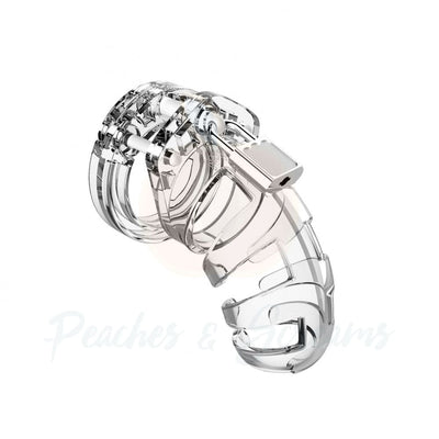 Man Cage 02 Male 3.5 Inch Clear Chastity Cage - Peaches and Screams