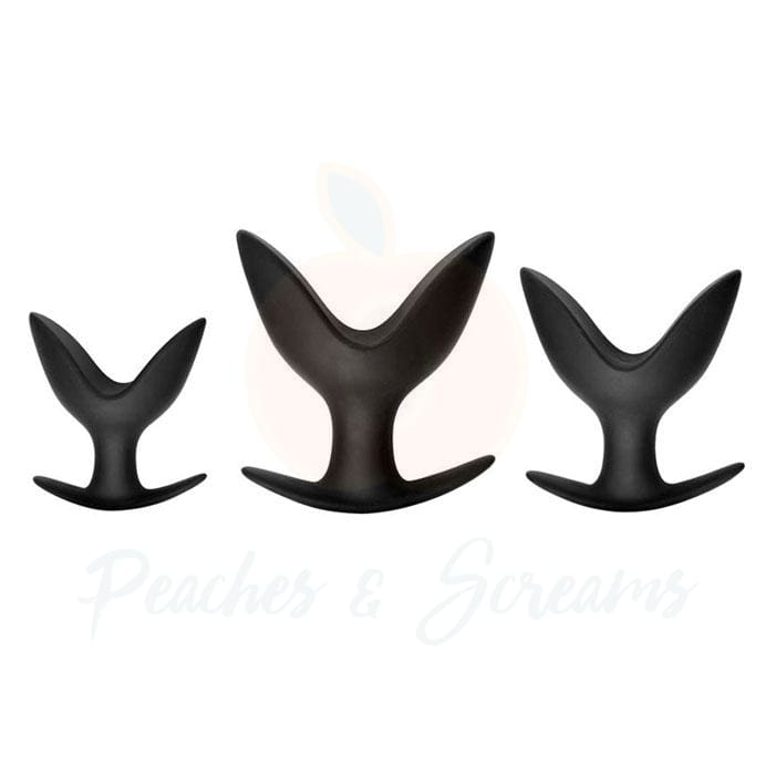 Master Series 3-Piece Ass Anchors Silicone Anal Butt Plugs - Necronomicox