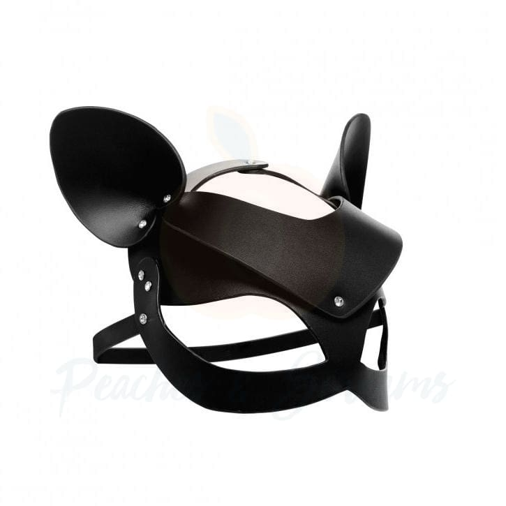 Master Series Bad Kitten Bondage Leather Cat Mask - Peaches and Screams