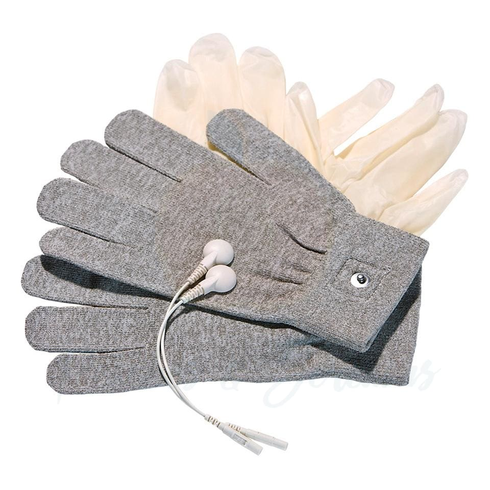 MyStim Grey Magic Electro Stimulation Gloves - 🍑 Necronomicox
