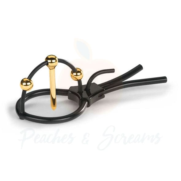 MyStim Plunging Pete ElectraStim Urethral Sound with Corona Strap - Peaches and Screams