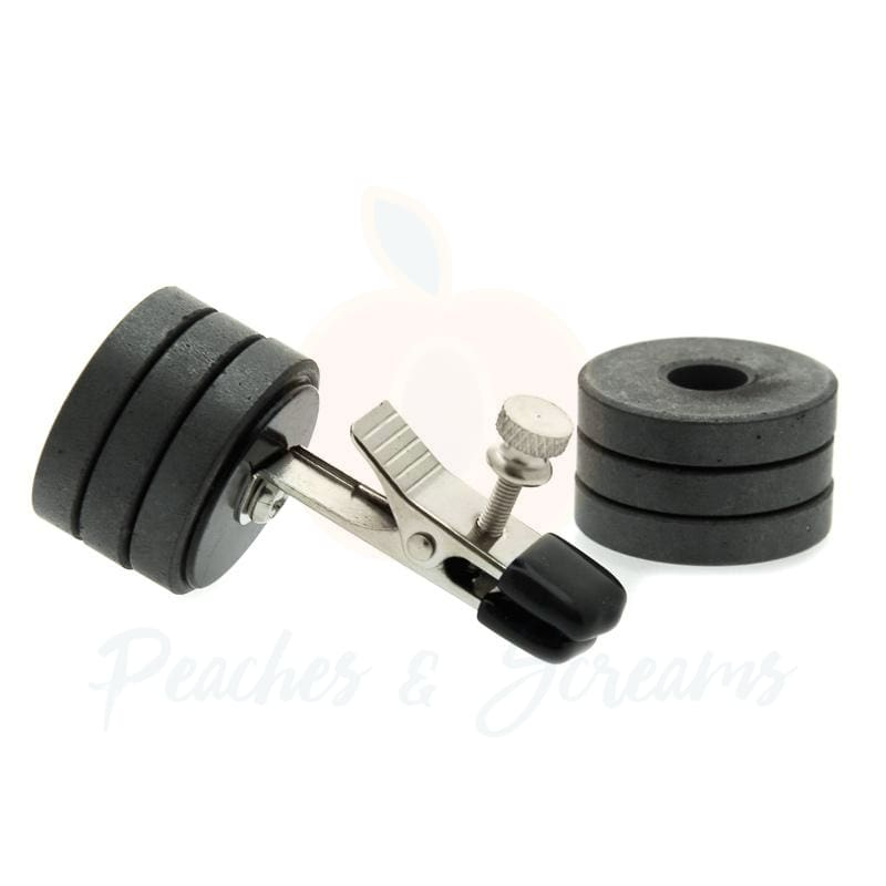 Nipple Clamp Clips with Magnet Weights for BDSM Bondage Play - 🍑 Peaches and Screams