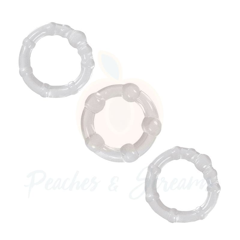 NS Novelties Renegade Clear Stretchy Cock Love Rings - Necronomicox