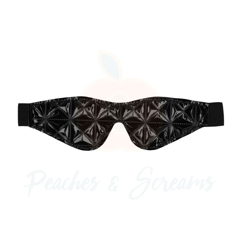 Ouch Black Luxury Bondage Eye Mask with Diamond Pattern - Necronomicox