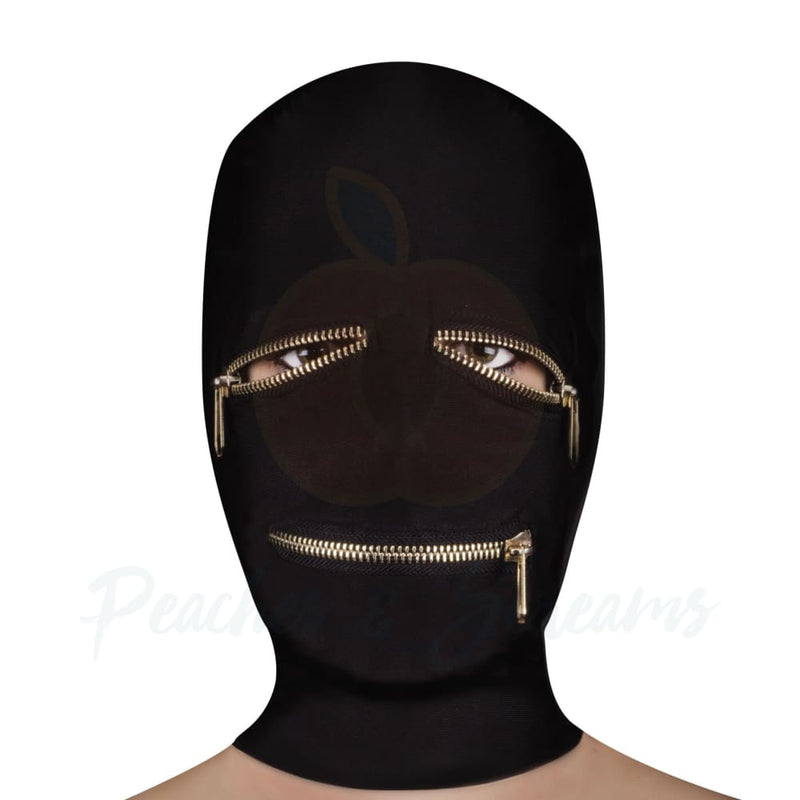 Ouch Extreme Bondage Zipper Mask With Eye And Mouth Zipper - Necronomicox