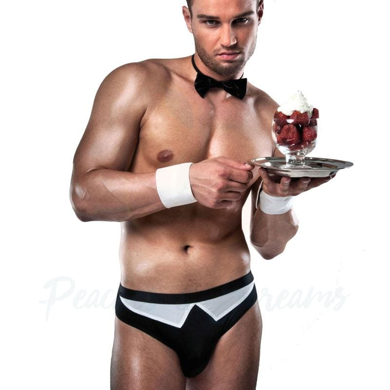Passion Black and White Mens Waiter Costume - Necronomicox