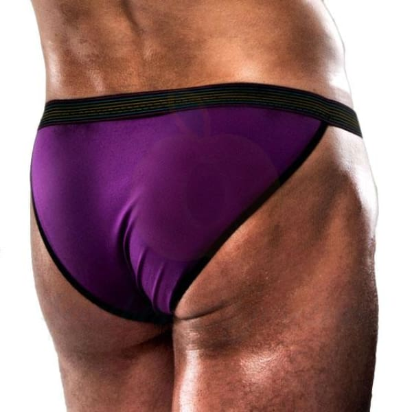 Passion Violet and Black Pouch Underwear for Men - Necronomicox
