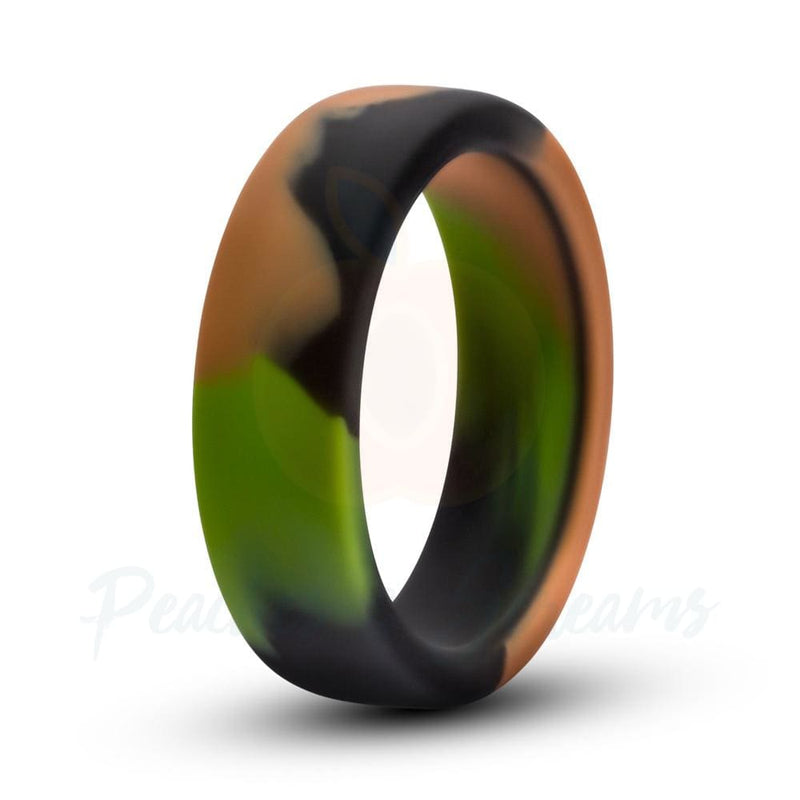 Performance Green Camo Silicone Strong and Stretchy Cock Ring - Necronomicox