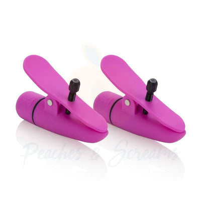 Pink Vibrating Nipple Clamps for BDSM Bondage Play - Necronomicox