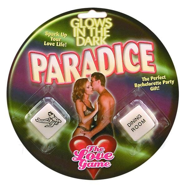 Pipedream Glow-In-The-Dark Paradice Sex Dice for Couples - 🍑 Peaches and Screams