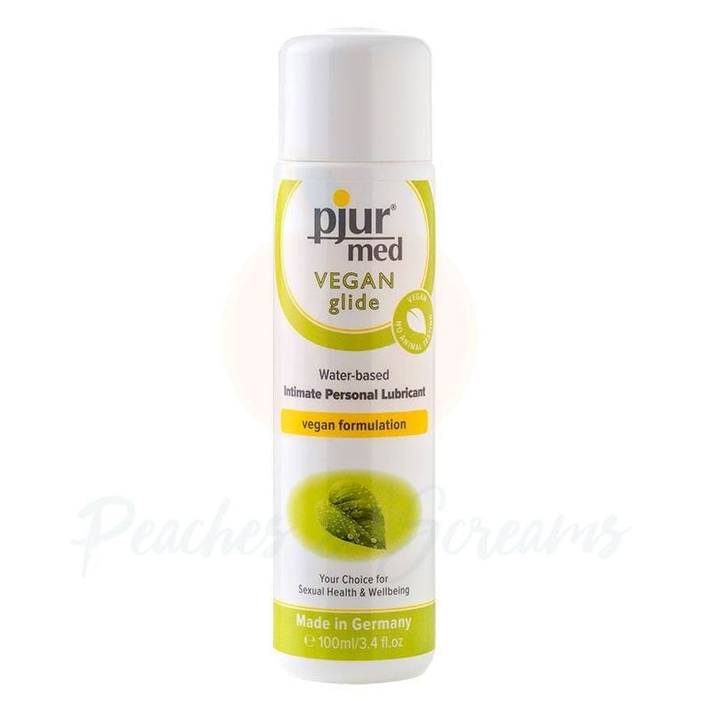 Pjur Med Vegan Glide Water-Based Intimate Personal Sex Lube 100ml - Peaches and Screams