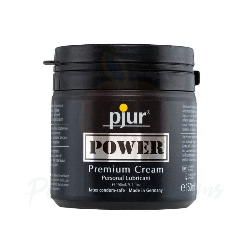 Pjur Power Premium Water and Silicone-Based Hybrid Sex Lube 150ml - 🍑 Peaches and Screams