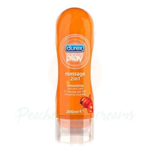 Play 2 in 1 Massage Gel and Lube with Arousing Guarana 200ml - Necronomicox