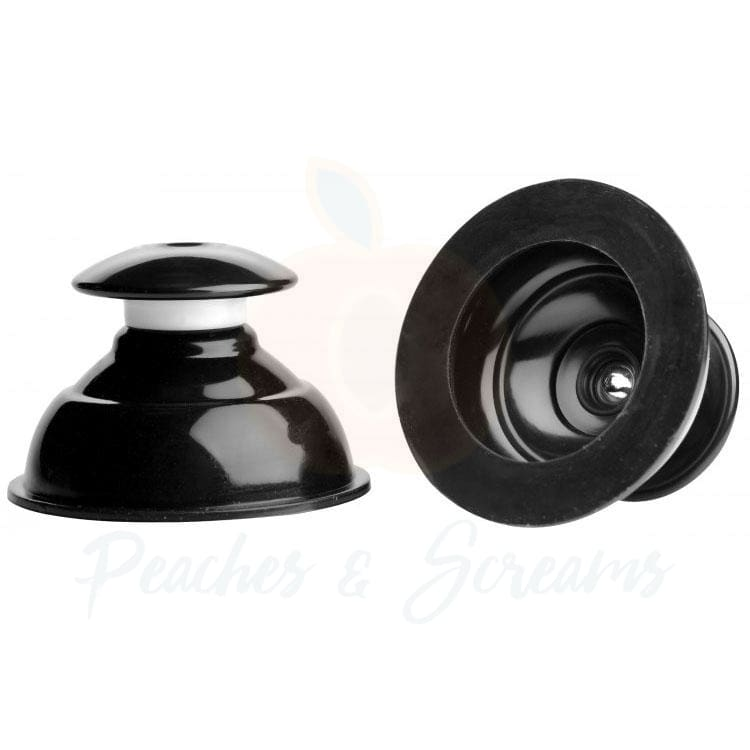 Plungers Extreme Black Suction Nipple Suckers for Bondage - 🍑 Peaches and Screams