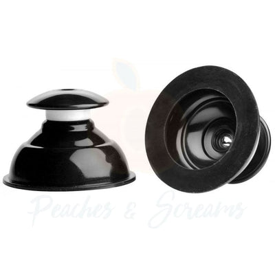 Plungers Extreme Black Suction Nipple Suckers for Bondage - Peaches and Screams