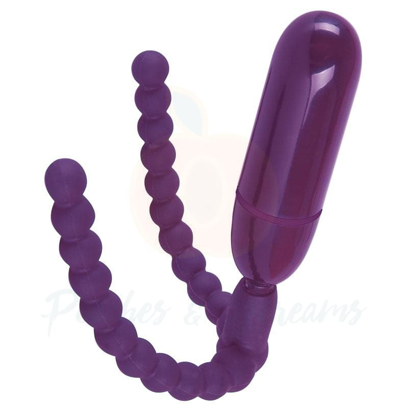 Purple Labia Spreader and G-Spot Bullet Vibe with Remote Control - Necronomicox