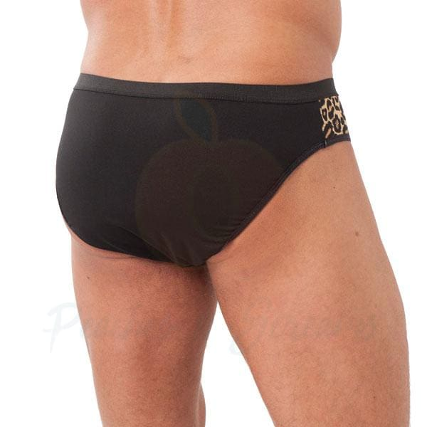 Rimba Animal Print Sexy Mens Brief with Front Zipper - Peaches and Screams