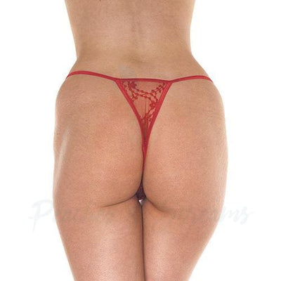 Rimba Racy Red Lacy Mini Tanga G-String Thong - Peaches and Screams