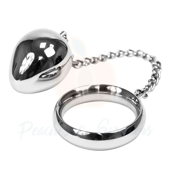 Rimba Stainless Steel Cock Ring with Anal Egg for Men - Necronomicox