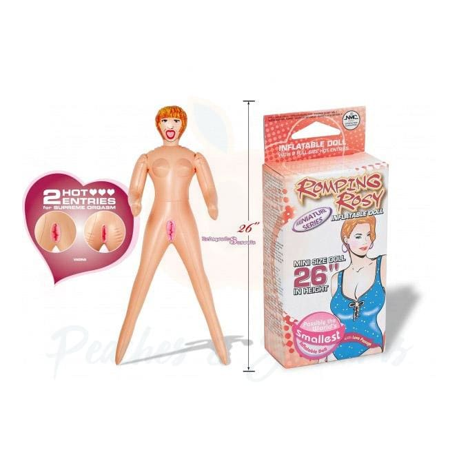 Romping Rosy Mini Blow-Up Sex Doll with 2 Love Holes - Necronomicox