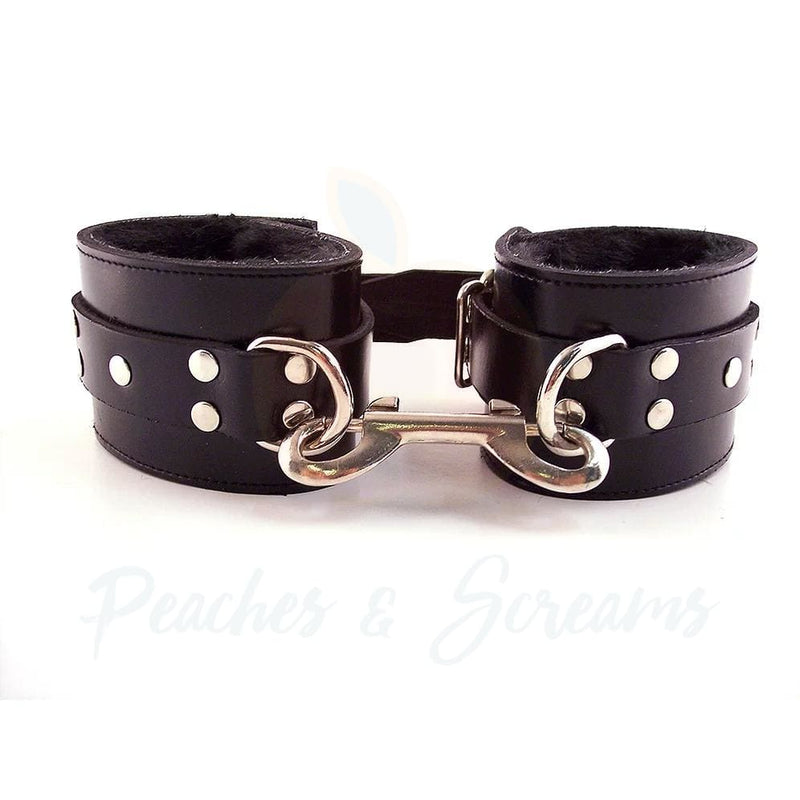 Rouge Garments Black Fur Bondage Wrist Cuffs - Necronomicox