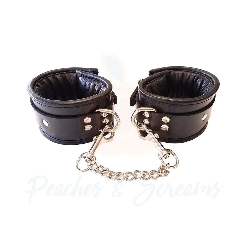 Rouge Garments Bondage Wrist Cuffs Padded Black - Necronomicox