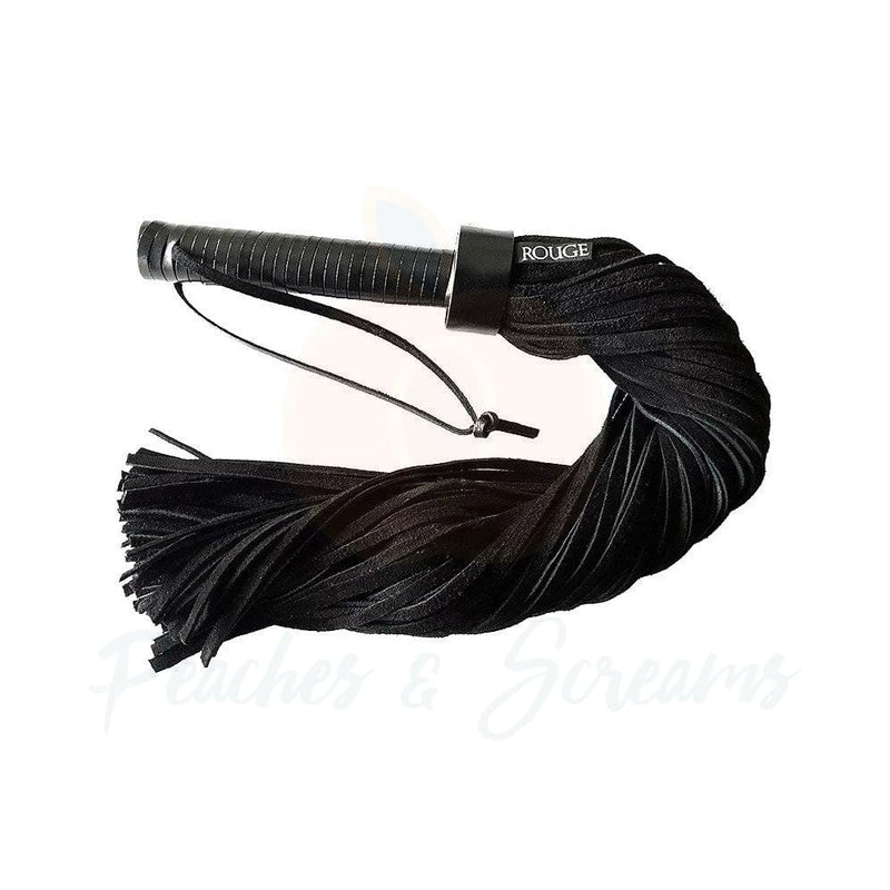 Rouge Leather Handle Suede Bondage Flogger - Necronomicox