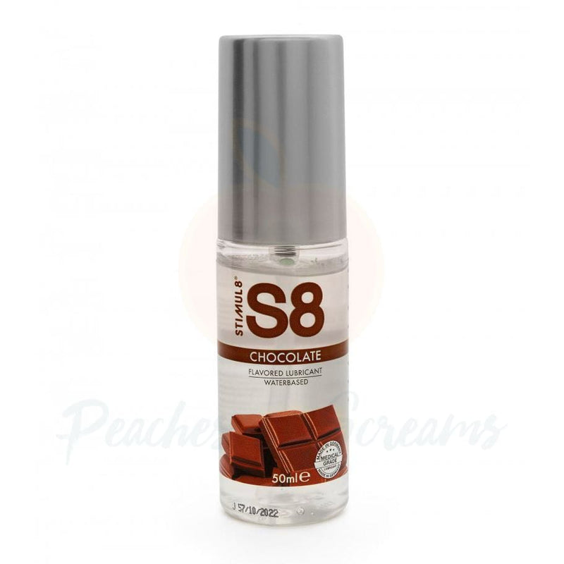 S8 Chocolate Flavored Lube 50ml - Peaches and Screams