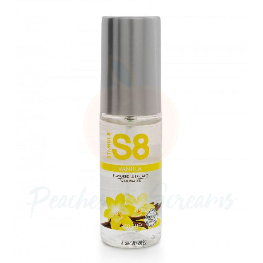 S8 Vanilla Flavored Lube 50ml - 🍑 Peaches and Screams