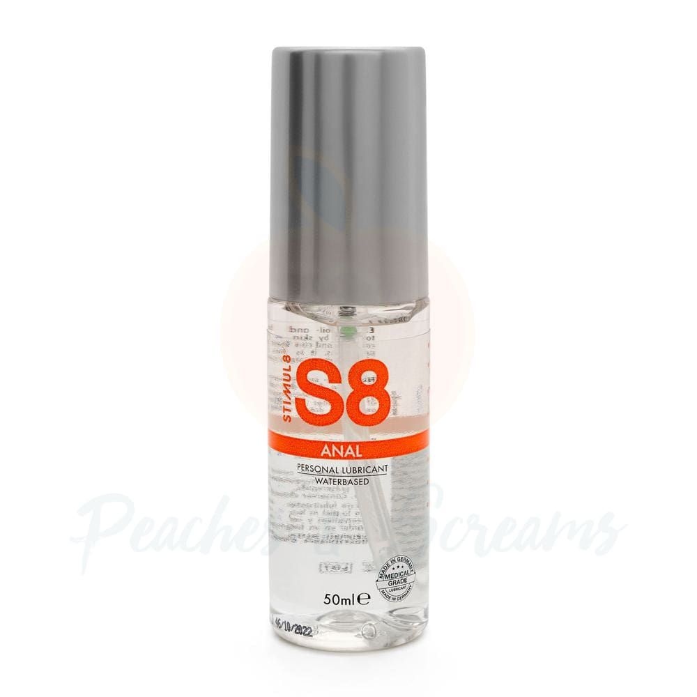 S8 Water Based Anal Lube 50ml - Peaches and Screams