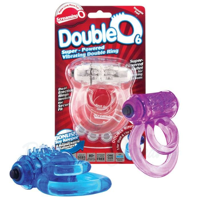 Screaming O Double O 6 Super Powered Vibrating Bullet Cock Ring - Necronomicox